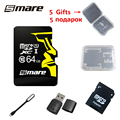 Smare new micro sd card memory card 64GB real capacity class 10 memory card free shipping