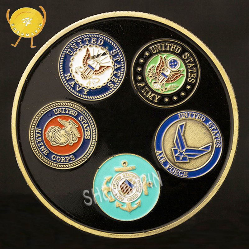 US Army Navy Air Force Marine Corps Coast Guard Commemorative Coin Military Honor Coins Collectibles Freedom Coins