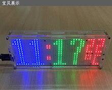 LED dot matrix clock De Soudage kit de formation les amateurs Électroniques diy