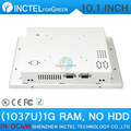 2015 new product White LED computer Touch screen All in one pc with White Color 1037u processor Windows linux 1G RAM ONLY