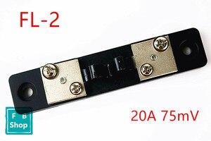1 pçs FL-2 dc 75mv 20a 0.5 nível de precisão atual shunt resistor para digital medidor amperímetro painel analógico shunt