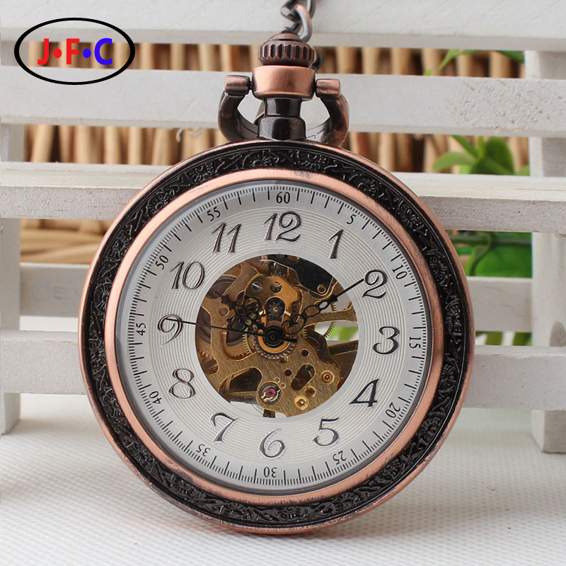 2017 retro pocket watch young men and women bronze Arabia digital mechanical pocket watch student graduation gift 2016 aladdin and the magic lamp watch the young men and women fashion quartz pocket watch table birthday gift ds262