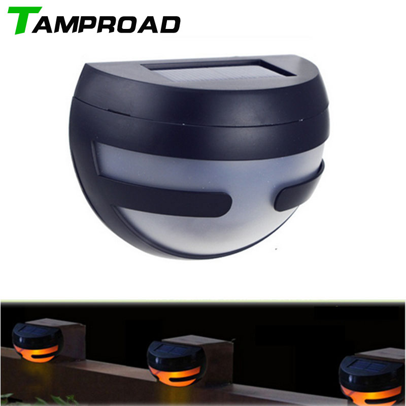 TAMPROAD Sun Power Smart LED Solar Gutter Night Security Light Portable For  House Fence Garden Walkways Stair Fixture Lighting In Solar Lamps From  Lights ...