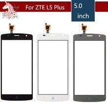 10pcs/lot 5.0 For ZTE Blade L5 Plus LCD Touch Screen Digitizer Sensor Outer Glass Lens Panel Replacement 4 0 for zte blade l110 lcd touch screen digitizer sensor outer glass lens panel replacement