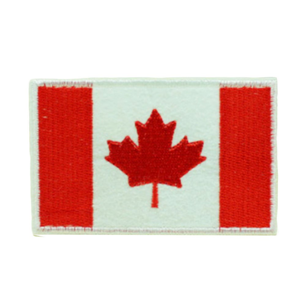 Нашивки с национальным флагом для одежды, нашивки с национальной эмблемой, нашивки с вышивкой, наклейки для одежды, нашивки с изображением страны, железные нашивки - Цвет: Canada