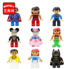 duploe big size characters Princess Batman Supermen building blocks parts toys collection gift baby toy small figure