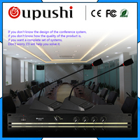 oupushi Mics in 1 Receiver Pro Wireless Conference Microphone System Gooseneck Desktop Mic Chairman Delegate Microphone system