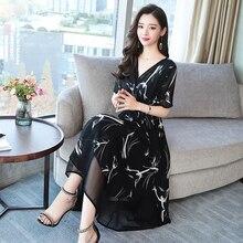 2019 new summer office lady plus size brand chiffon female women girls dress clothes 79363