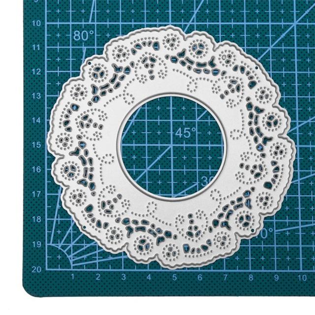 Floral Mandala Frame Metal Cutting Stencil