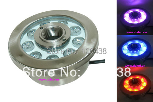 IP68,27W LED RGB fountain light,LED RGB pool light,DS-10-36-27W-RGB,9*3W RGB 3in1,12V DC,constant voltage,2-year warranty цена