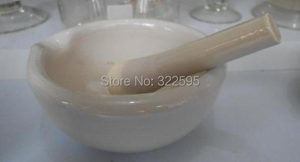 356mm Lab Porcelain Mortar and Pestle Pharmacy Nurse free shipping porcelain 100mm mortar and pestle 1pc