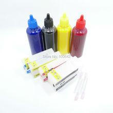 4 цвет * 100 мл Пигментные чернила + PGI-1400XL Многоразового картридж для Canon MAXIFY MB2340 MB2040 MB2140 MB2740 MB2140/MB2740