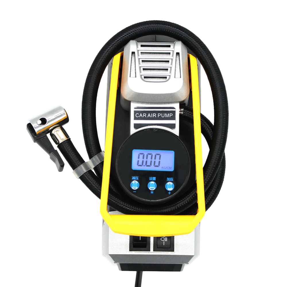 Car Tire Inflator 12V 120W Digital Display Portable Air Compressor Pump 72.5 psi for Motorcycle Bicycle
