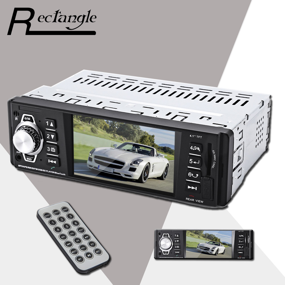 4016C 4.1 Inch Embedded 1 Din Car MP5 Player Navigation MP3 Video Audio FM Radio Remote Control Support USB SD AUX Car Styling