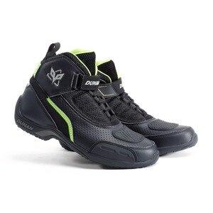 Image 2 - DUHAN botas protectoras de carreras para motocicleta para hombre, zapatos de malla para motocicleta, botas de carreras todoterreno para Motocross, botas para motocicleta