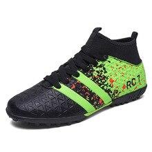 Mens turf soccer shoes FG football boots kids outdoor boys soccer cleats size 32-45 chuteiras futebol profissionais 2017