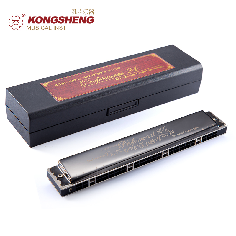 KONGSHENG Woodwind Instrument Mouth Organ Tremolo Harmonica 24-holes Hot Sale Key of C for Beginners #C/D/#D/E/F/#F/G/#G/A/#A/B стоимость