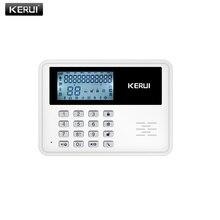 New large LCD display GSM network home security burglar alarm system PIR motion detector door sensor wireless wired alarm system