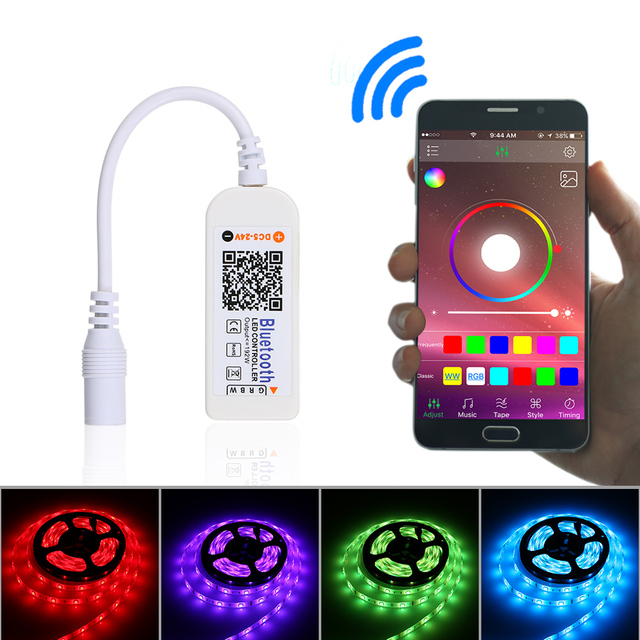 Rgb led bluetooth control mini wireless led remote controller rgb led bluetooth control mini wireless led remote controller connectors rgbw rgb led light strip dc5v mozeypictures Image collections