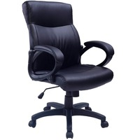New 2016 Office Chair Padded PU Leather Executive Swivel Computer Desk Study Chair Free Shipping CB10052