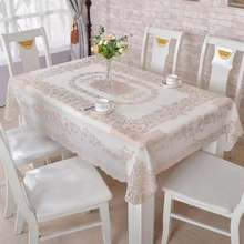 able Cloth Wedding Decor Translucent Table Cover Embroidered Tablecloth Tea Home