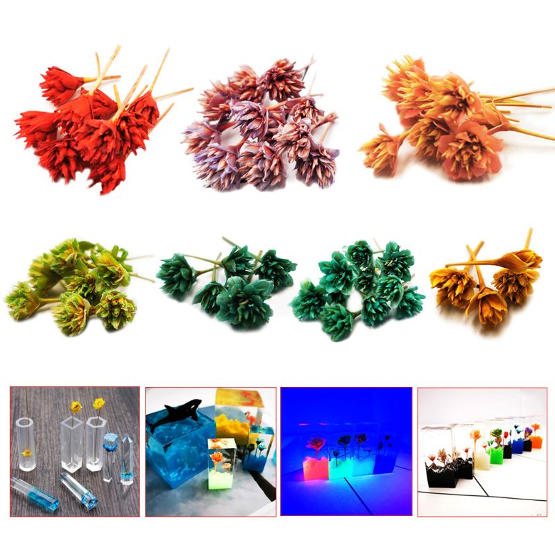 10 Pcs/box Dry Flower Handmade Flowers DIY Handicrafts Silicone Molding Resin Filler Tools Epoxy UV Crystal Decoration Accessori
