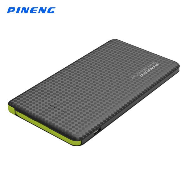 Original pineng 5000 mah li-polímero banco de la energía cargador de batería externa portátil banco de la energía para smartphone pn952