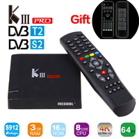 MECOOL KIII Pro DVB S2 DVB T2 Android6 0 Smart TV Box Amlogic S912 Octa Core