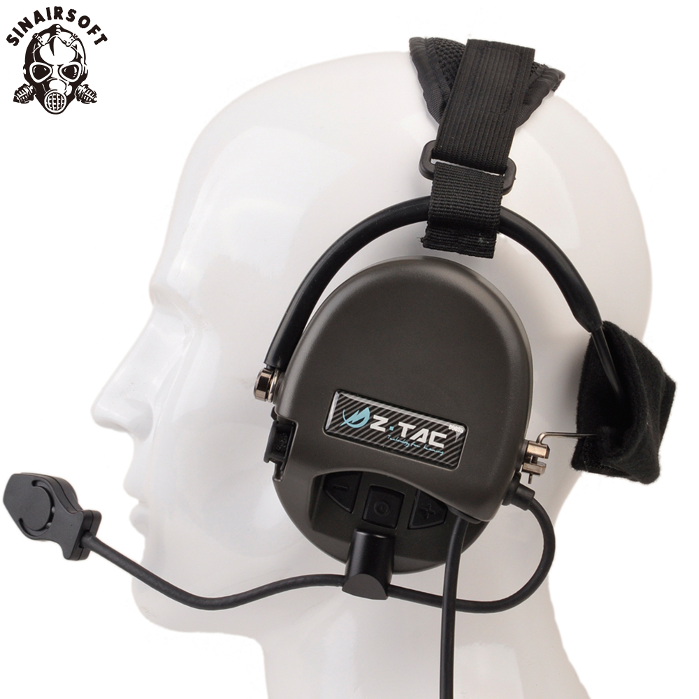 Z Tactical Softair Pilot Headset Comtac TCI Liberator II Neckband Sordin Thoradin Pickup Noise Canceling Hunting