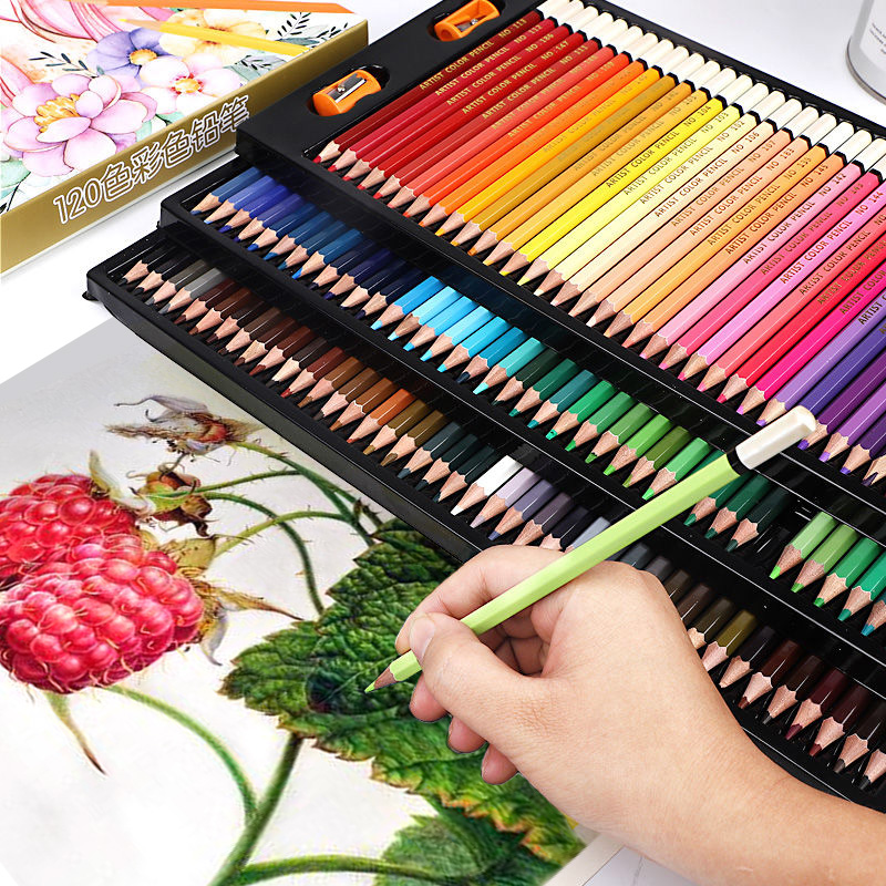 36/48/72/120 Soft Colors Colored Pencils 150 Lapis De Cor Profissional Oil-based Color Pencil Set For Coloring Books Art Supply