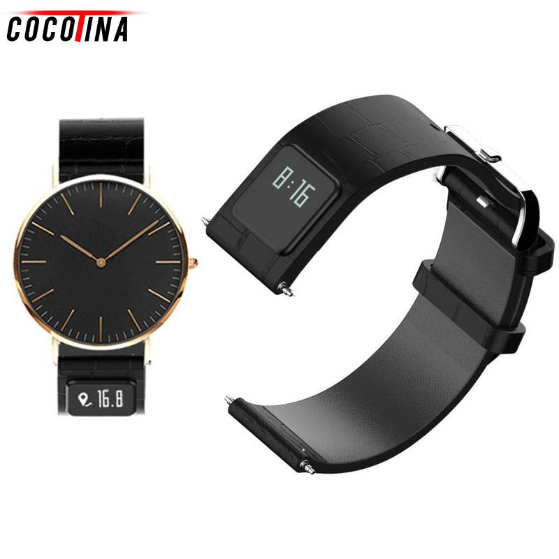 Cocotina 22mm Watch Band with Smart Watches Band Wristband Function Leather Watchband Straps Stainless Steel Silver Buckle h1 20mm 22mm watch band with smart band wristband function leather watchband straps stainless steel silver buckle smartband