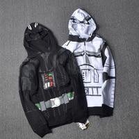 Star War Darth Vader Boys Sweatshirt Hoodies Cosplay Imperial Stormtrooper Spring Autumn Coats Children Clothes Superhero