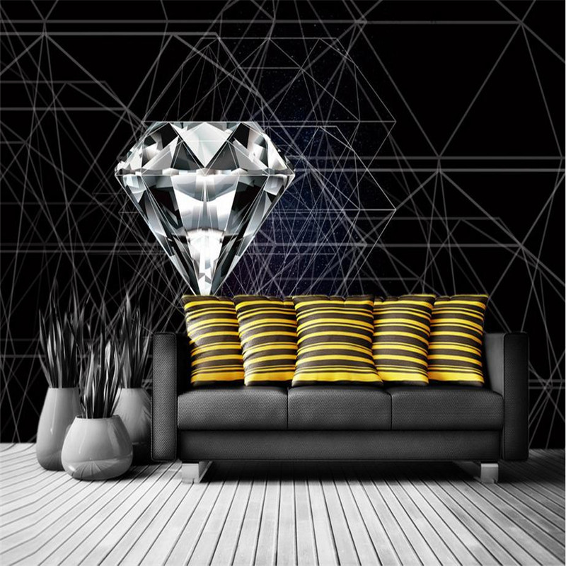 Desktop Abstract Wallpaper For Walls Home Decor Modern Living Room Background Wall Murals Bedroom Diamond Wallpaper Wall Mural wallpaper for walls 3 d modern trdimensional geometry 4d tv background wall paper roll silver gray wallpapers for living room