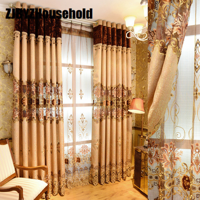 2017 New Curtains For Dining Living Bedroom Room Elegant European Style  Luxury Villa Windows Finished Curtain