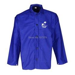 لحام المئزر FR القطن الأزرق لهب لحام سترة السلامة لحام الملابس