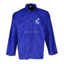 Free Shipping !!! Blue Flame Retardant Weldor Welding Jacket