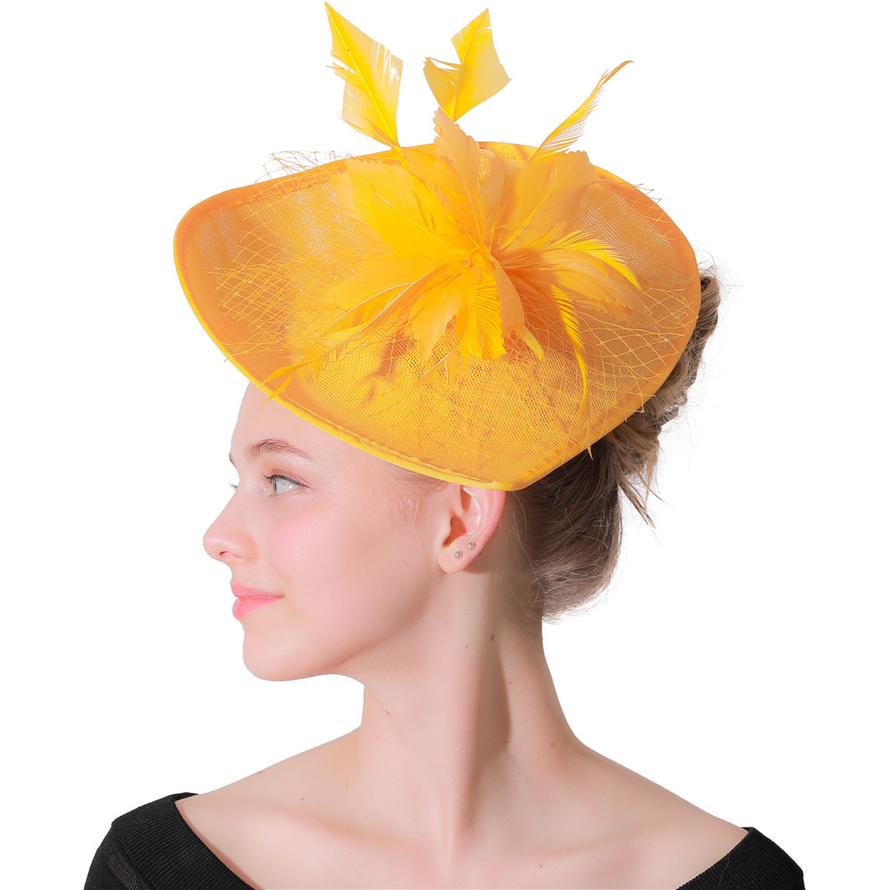 181690289dc Buy yellow fascinators hats and get free shipping on AliExpress.com