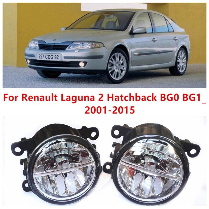 ФОТО For Renault Laguna 2 Hatchback BG0 BG1_  2001-2015 10W Fog Light LED DRL Daytime Running Lights Car Styling lamps