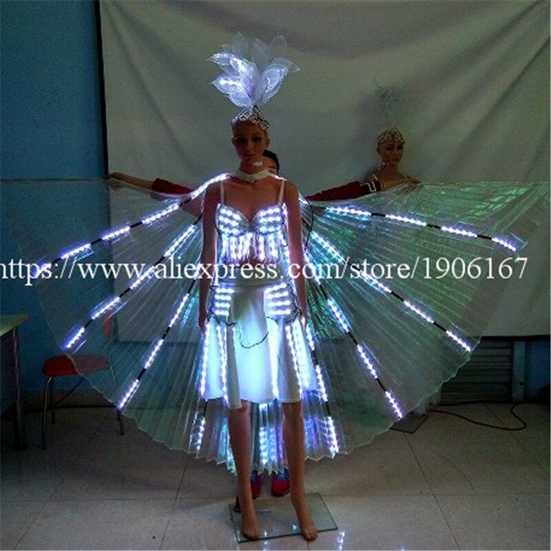 Mode bunte led leuchtende abend party dress sexy frauen leuchten - Partyartikel und Dekoration - Foto 2