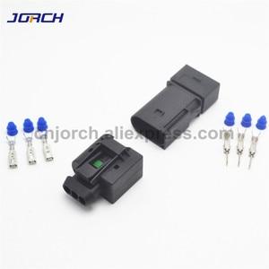 Image 4 - 5 takım 3 pin Enjektör ABS Sensörü elektrik teli Konnektör Dişi Ve Erkek soket 09 4413 11/22140492050 Benz Için BMW Kostal
