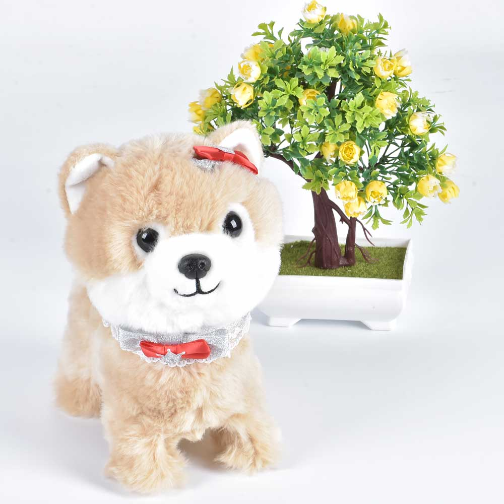 Electronic Dog Robot Teddy Interactive Dog Toys Electronic Plush Animal Pet Toy Walk Bark Leash Teddy Toys For Children(China)