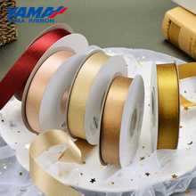YAMA Gold Purl Satin Ribbon 19 22 25 38 mm 3/4 7/8 1 1.5 inch 100Yards/roll Party Wedding Handmade Rose Flowers Crafts Gifts