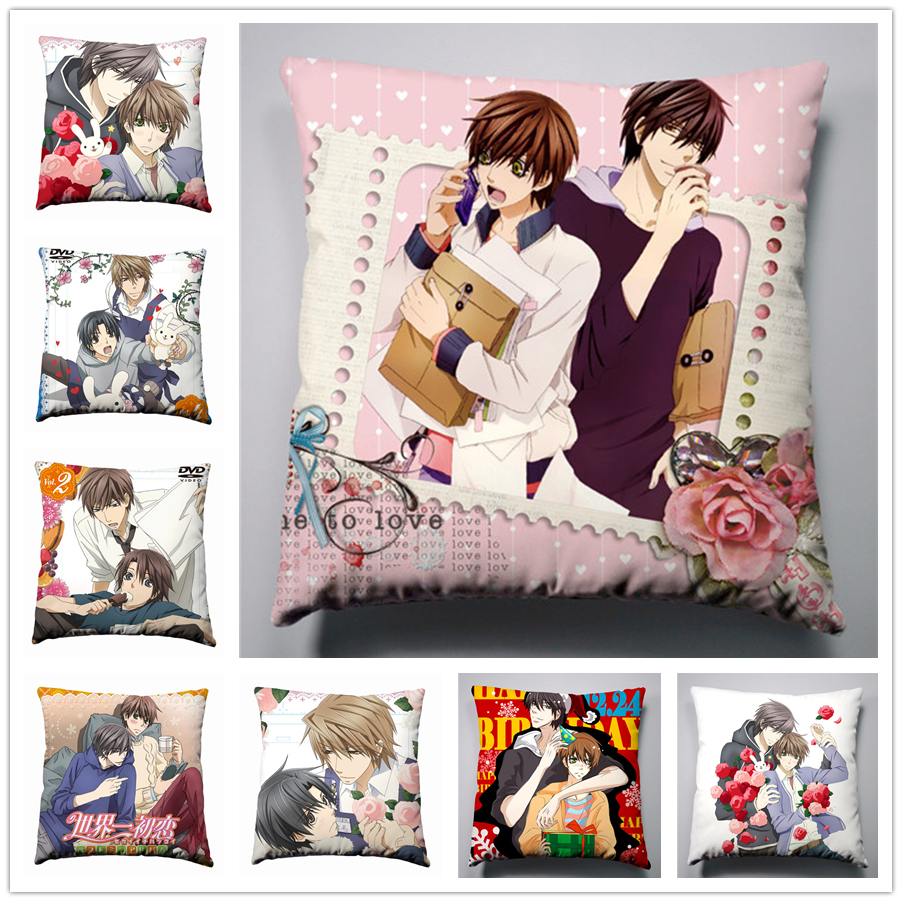 Yaoi Anime Sekai ichi Hatsukoi double sided Pillow cushion Case Cover 38