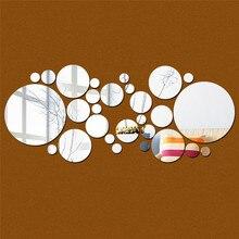 30 unid/set DIY punto redondo pequeño efecto espejo acrílico pegatina de pared espejo superficie pegatinas de pared decoración del hogar 2 colores