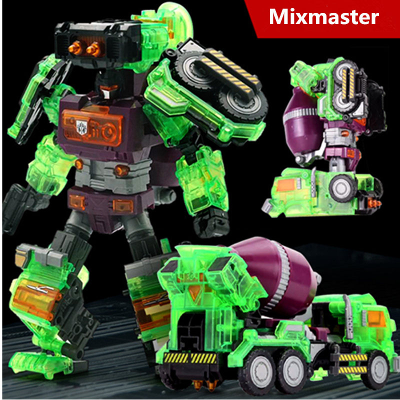 цена на [Yamala] NBK Transparent Scrapper Bonecrusher Scavenger Mixmaster Ko Version Action Figures Transformation Robot Toys Children