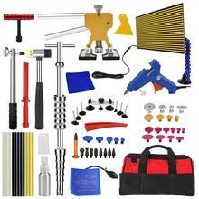 PDR Tools Set Paintless Dent Repair Car Dent Removal Hand Tool Set LED Reflector Board dent puller Slide Hammer glue gun tools