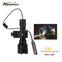 C8 Tactical Gun Flashlight Torch 2200LM CREE XM L2 LED 5 Modes LED Flash Light Lanterna