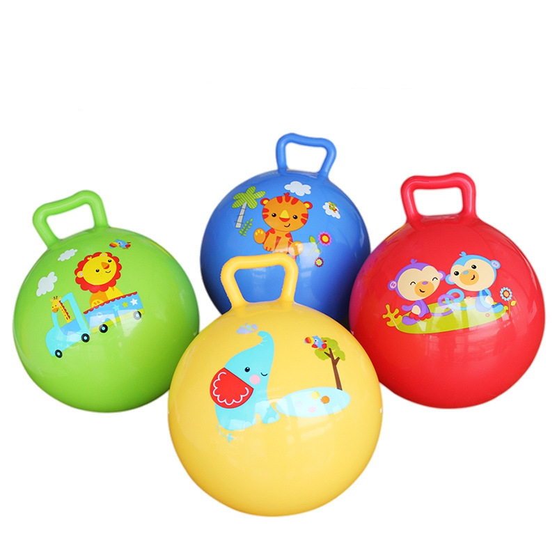 Inflatable Sport Cartoon Ball for Baby Educational Toys Bouncing Balls toys TO