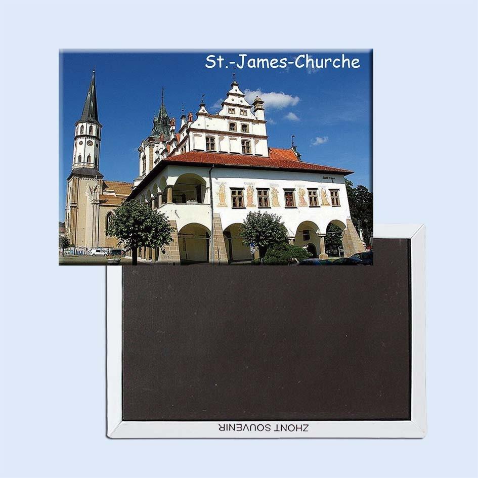 St-James-Kirche-Levoca-Slowakei Reise Bild Kühlschrank Magneten 21200, Souvenirs von Weltweit Tourist Landschaft