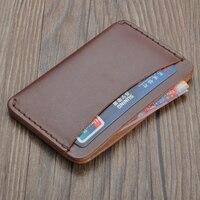 Handmade Card Holder Unisex 2016 Wallet Brand High Quality Vintage Designer 100 Genuine Casual Handbags Wallet